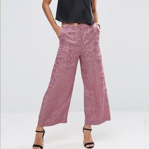 Wide Leg Culotte Mauve Pink Trousers by Asos